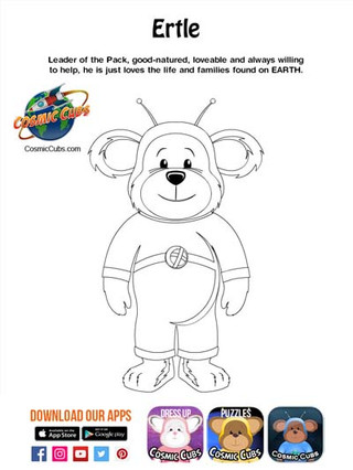 Cosmic Cubs Coloring Page - Ertle - Eart