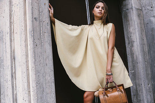 Yellow Cape Dress