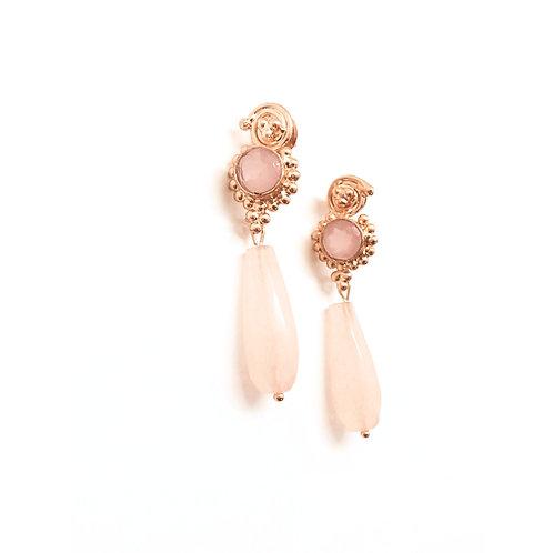 Bergenia Pink Chalcedony stone Earring