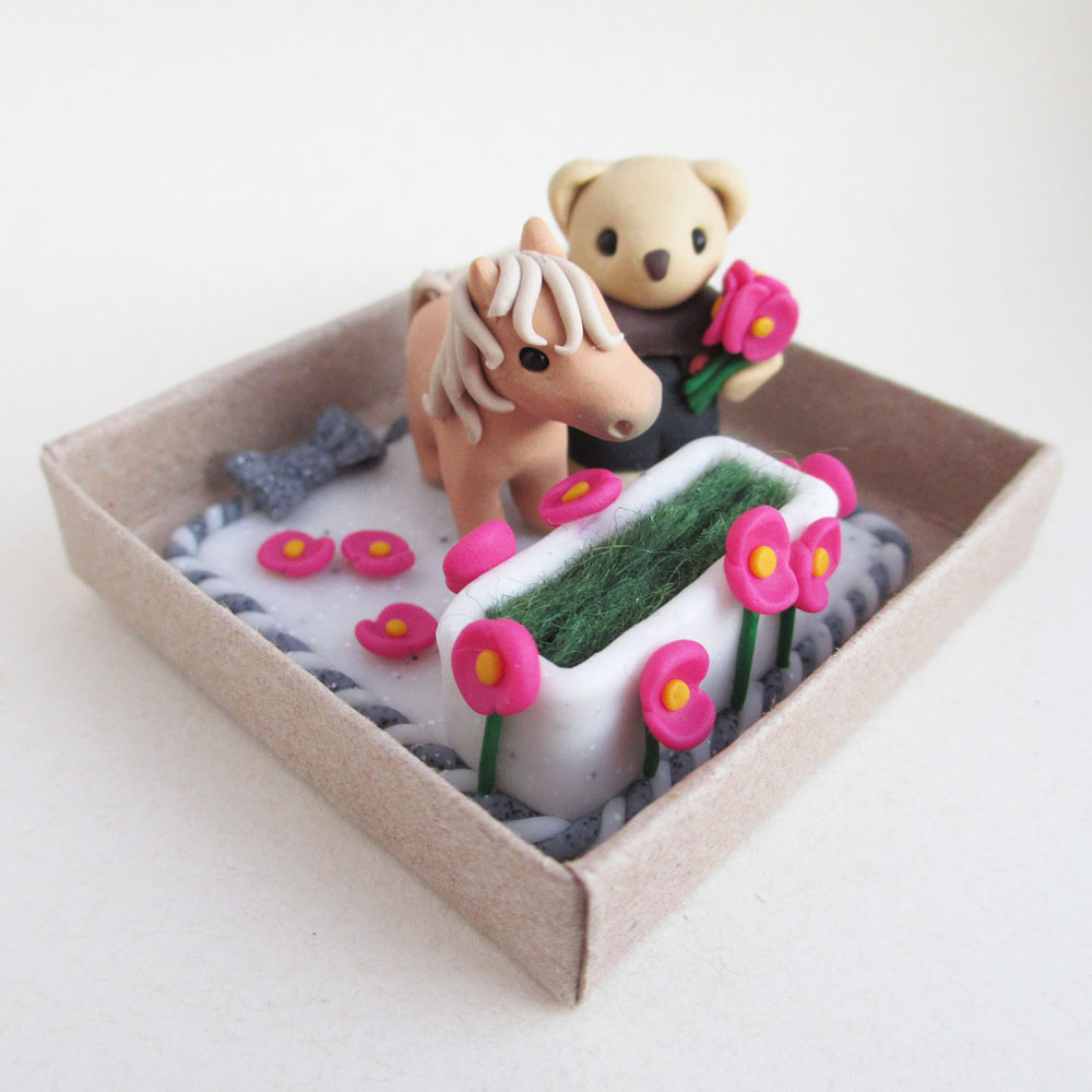 Pony and teddy engagement ring box