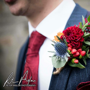 Wedding lapel flowers