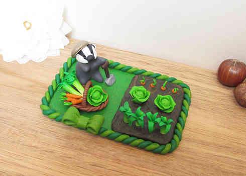 Badger keepsake cake topper