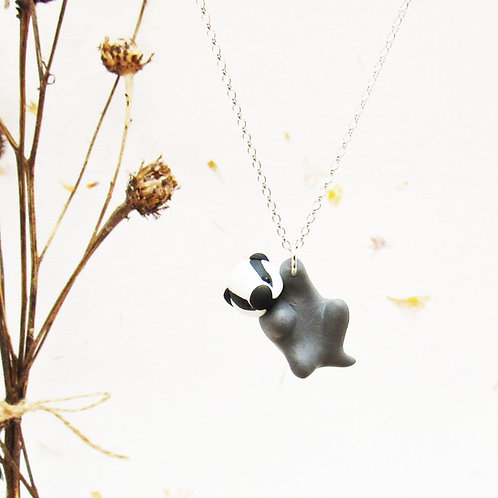 Cute badger necklace