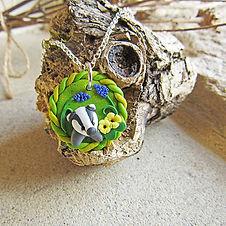 Handmade Badger Necklace