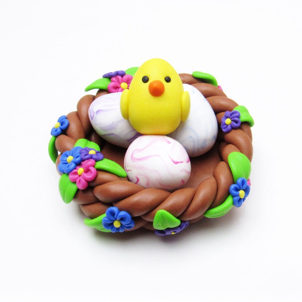 Easter nest ornament