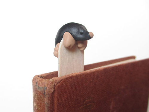 Cute mole bookmark