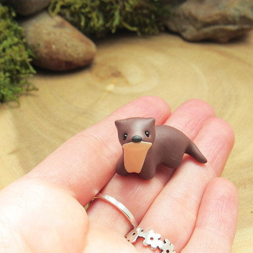 Tiny otter ornament