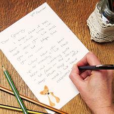Recycled Woodland Animal Writing set