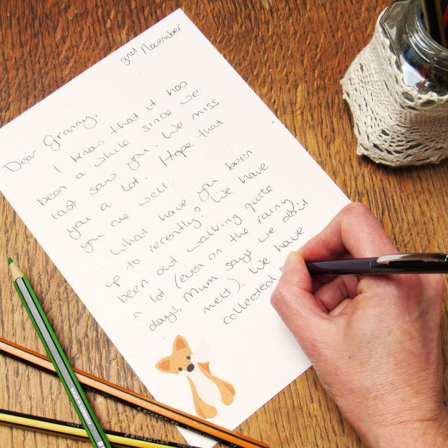 Fox recycled writing paper