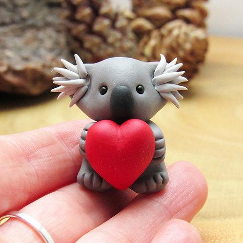 Valentine's koala ornament