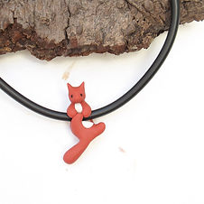 Red Squirrel Choker Necklace