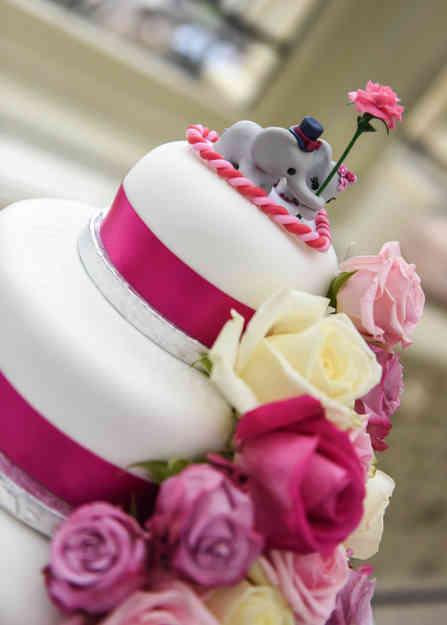 Elephant wedding cake topper