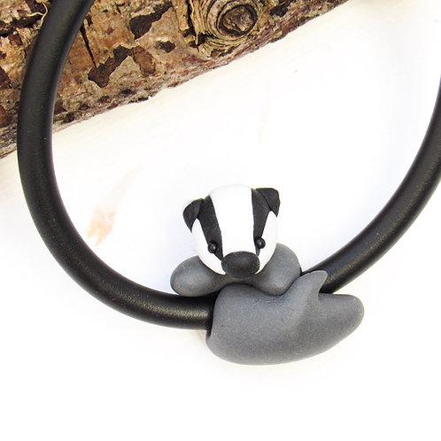 Badger jewellery - badger charm bracelet