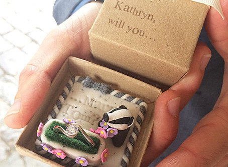 Blame it on the badger - The engagement ring box for Tom and Kathryn