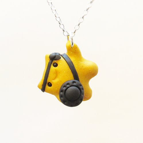 Yellow brave warrior sterling silver necklace