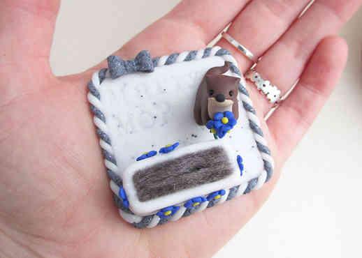 Otter keepsake ring holder
