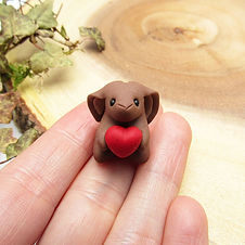 Rabbit Ornament with Heart