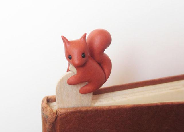 Red squirrel bookmark