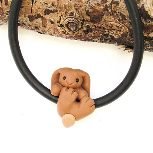 Brown hare jewellery - hare charm bracelet