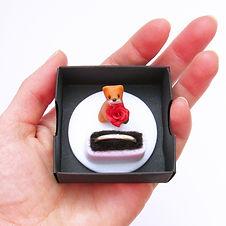 Handmade Animal Engagement Ring Box with Weasel Keepsake Ring Holder