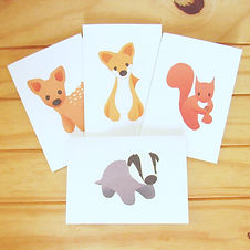 Woodland Greetings Card Pack of Four