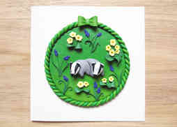 Baby badger wall plaque