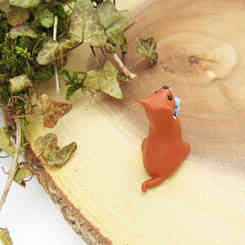Cute weasel ornament
