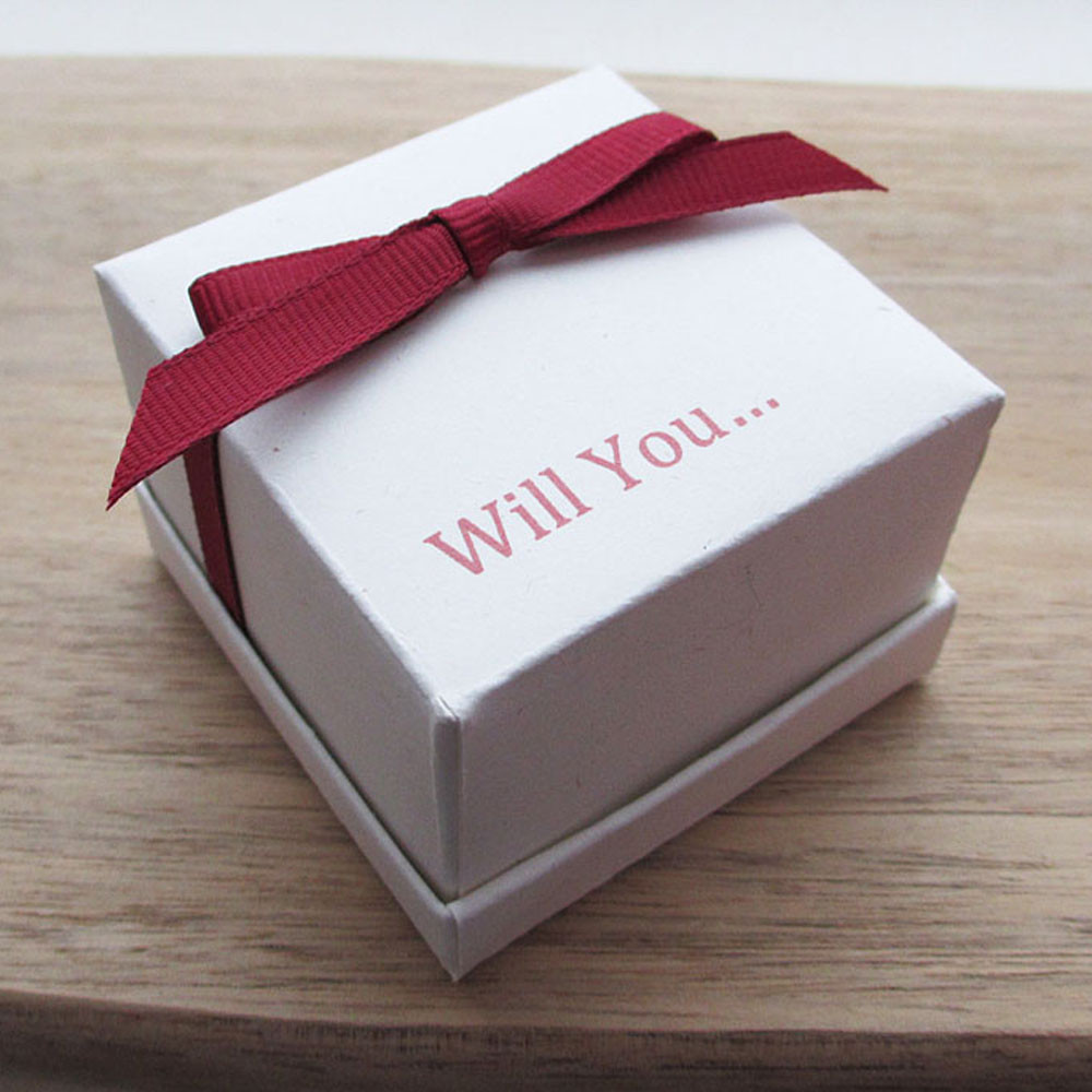 Recycled card engagement ring box