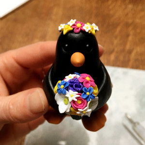 Penguin bride ornament