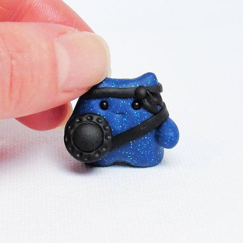 Blue brave warrior ornament