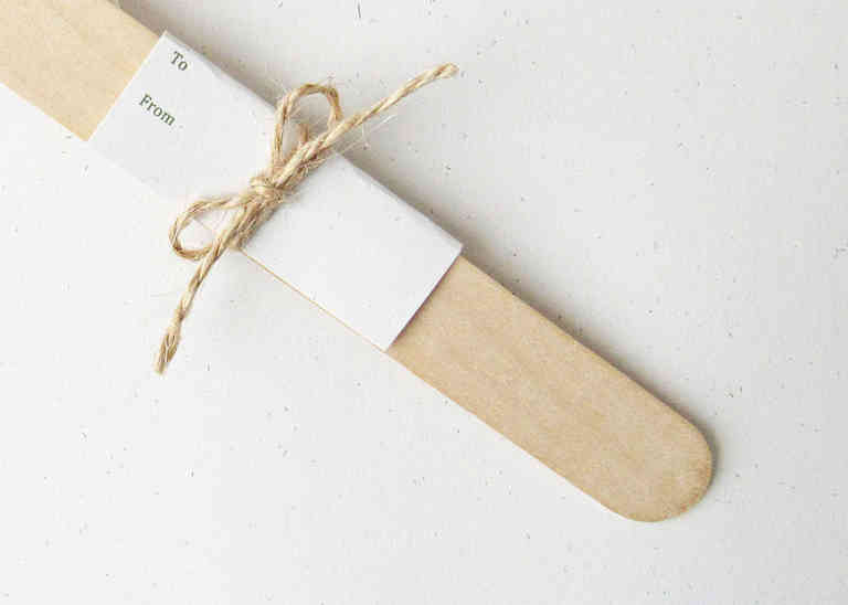Wooden bookmark and gift tag