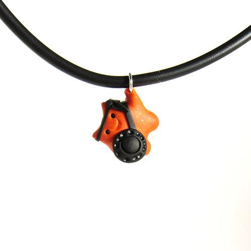 Orange brave warrior choker necklace