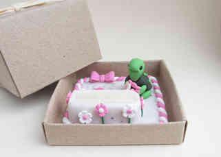 Turtle keepsake ring box