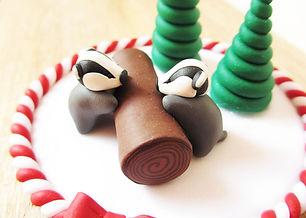 Badger Christmas Cake Decoration