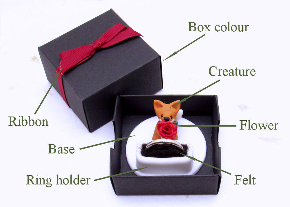 Handmade engagement ring box