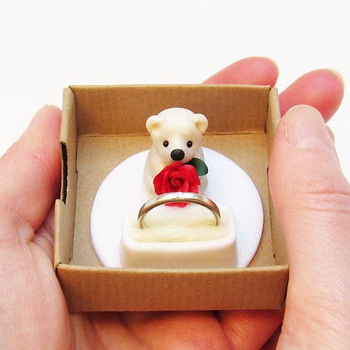 Polar bear keepsake ring holder