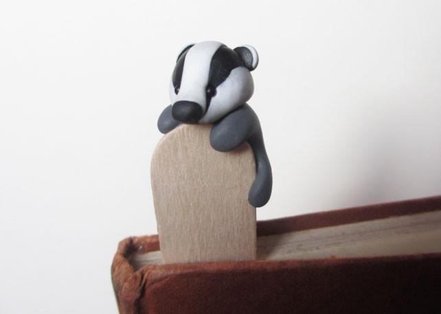 Cute badger bookmark