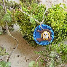 Handmade Barn Owl Necklace
