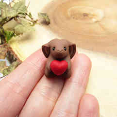 Bunny miniature with heart