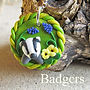 Badger jewellery and badger gifts