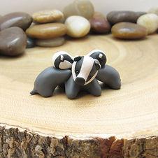 Badger Family Ornament