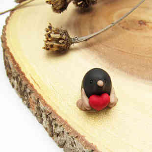 Mole miniature with heart