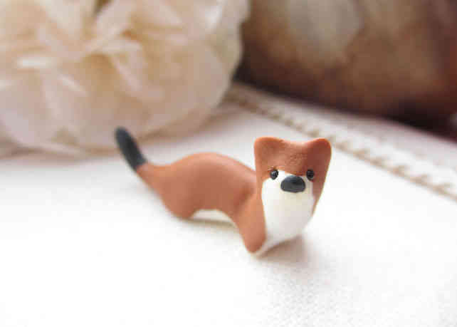 Stoat miniature ornament