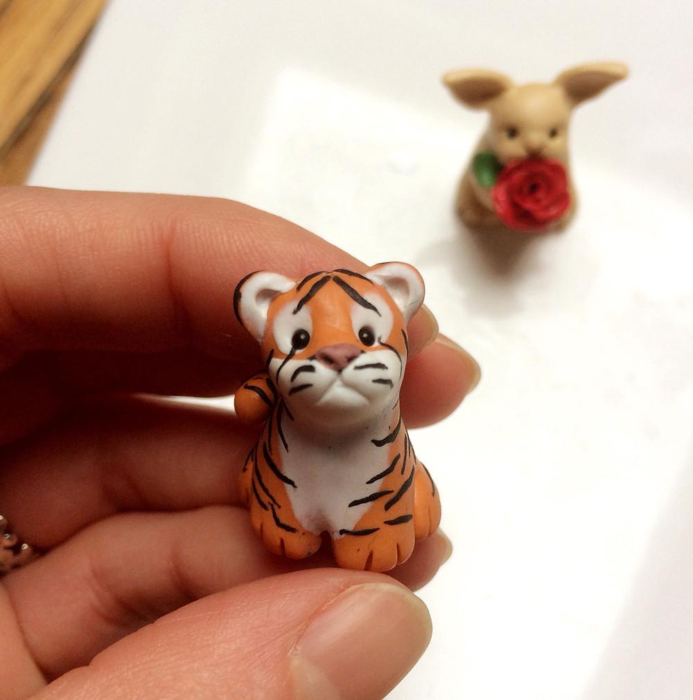 Cute tiger ornament