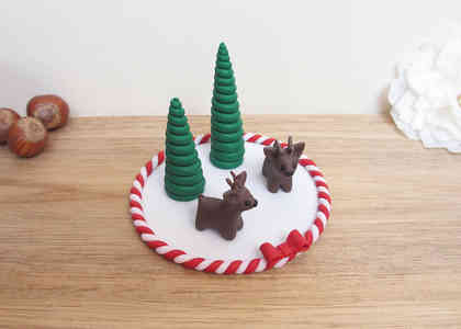 Reindeer Christmas cake decoration