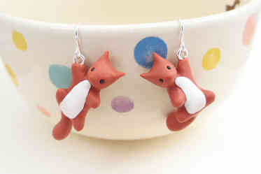 Red squirrel earrings