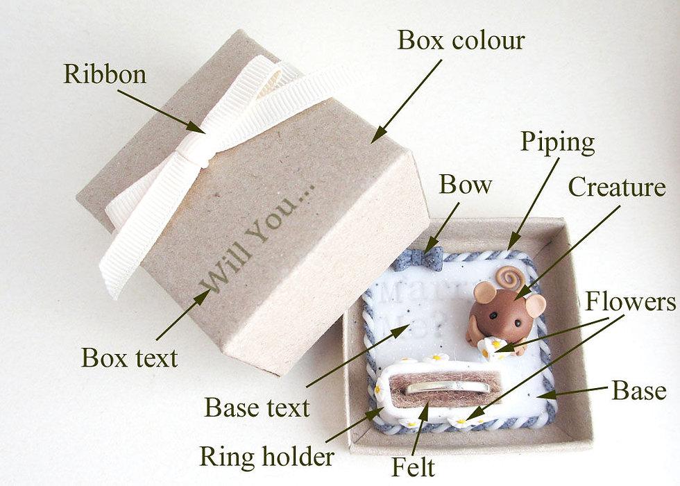 Handmade engagement ring box