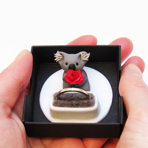 Koala proposal ring box