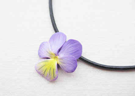 Wild pansy necklace
