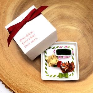 Tiger and rabbit engagement ring box